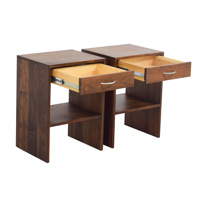 buy Custom Single Drawer Oak Nightstands online