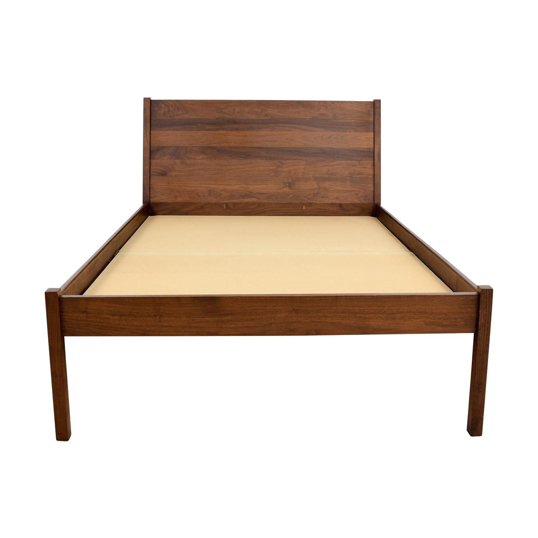 65% OFF - Custom Wood Platform Full Bed Frame / Beds