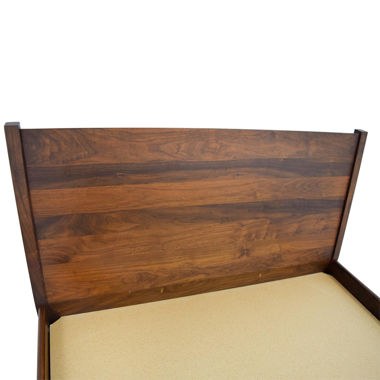 65 off custom wood platform full bed frame beds. Black Bedroom Furniture Sets. Home Design Ideas