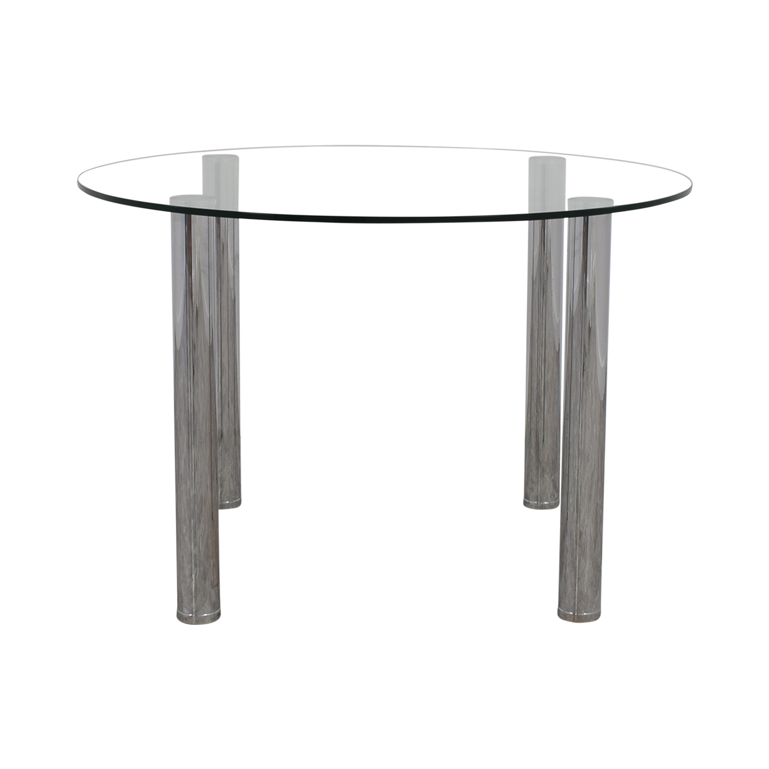 buy Round Glass and Chrome Table online