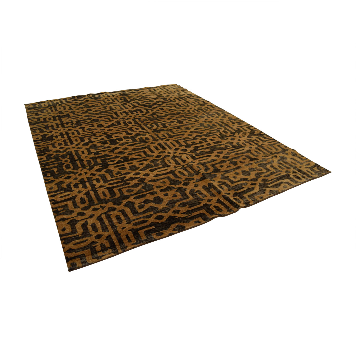 Obeetee Brown Tan Rug / Rugs
