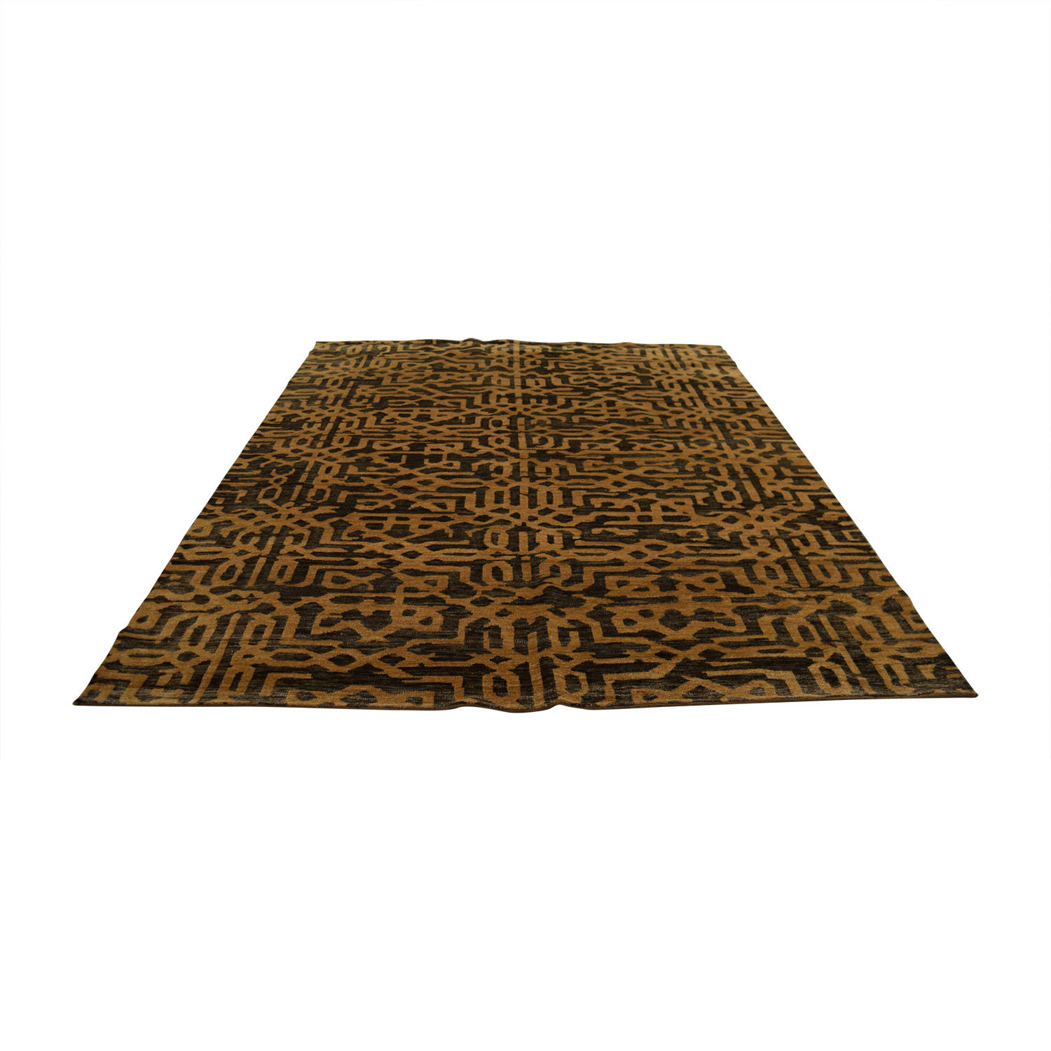 Obeetee Brown Tan Rug / Decor