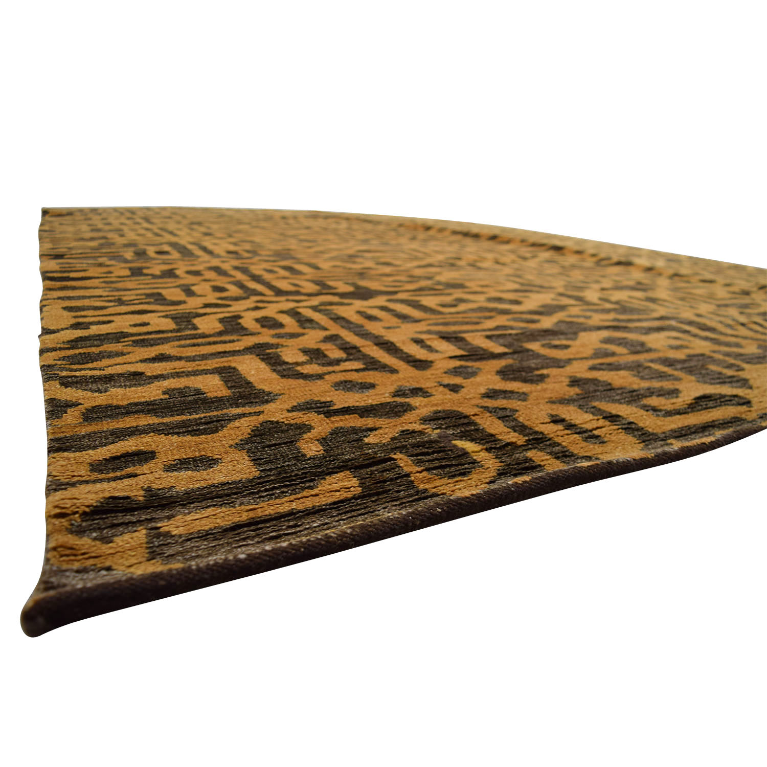 shop Obeetee Hand Knotted Brown and Tan Wool Rug Obeetee Decor