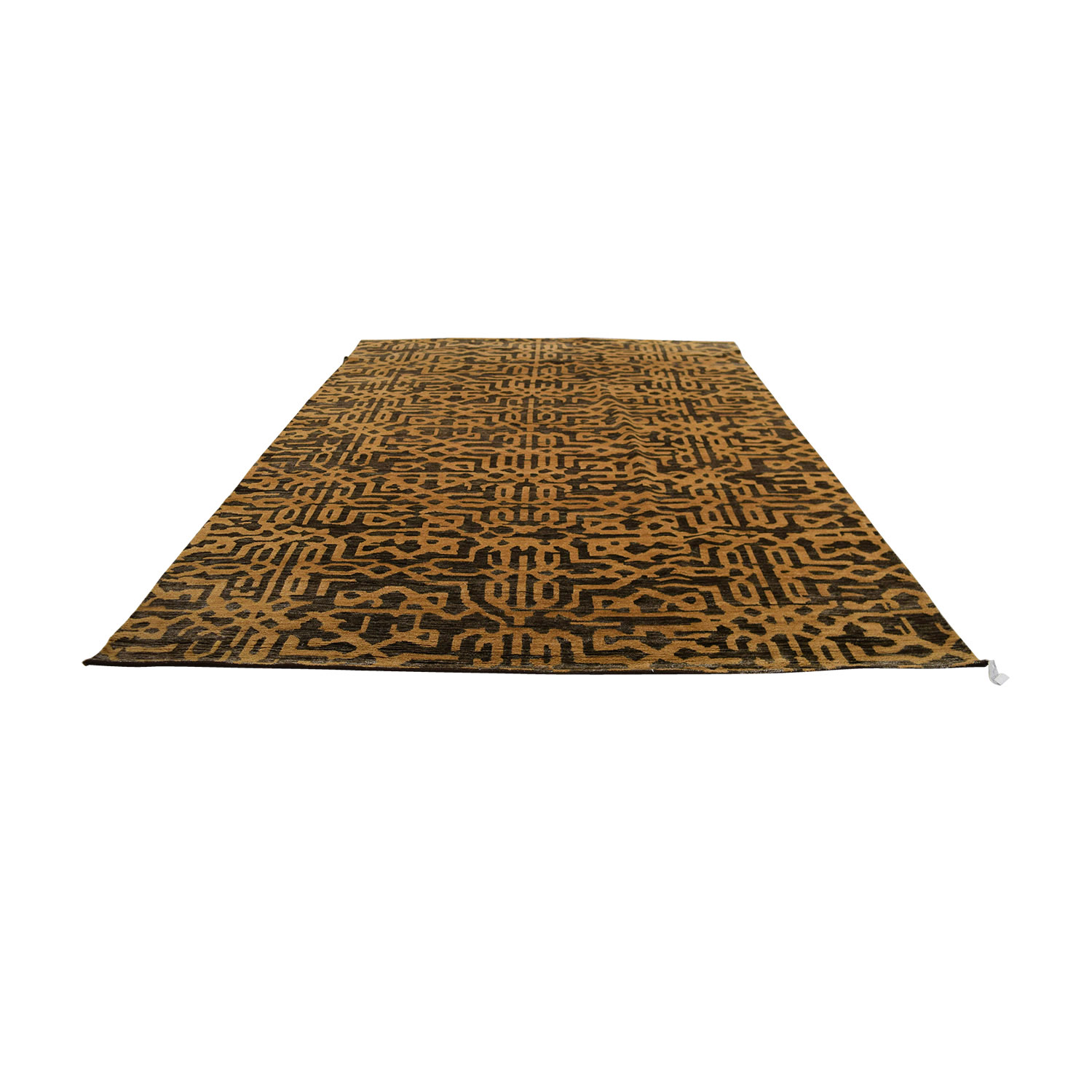Obeetee Obeetee Hand Knotted Brown and Tan Wool Rug Rugs