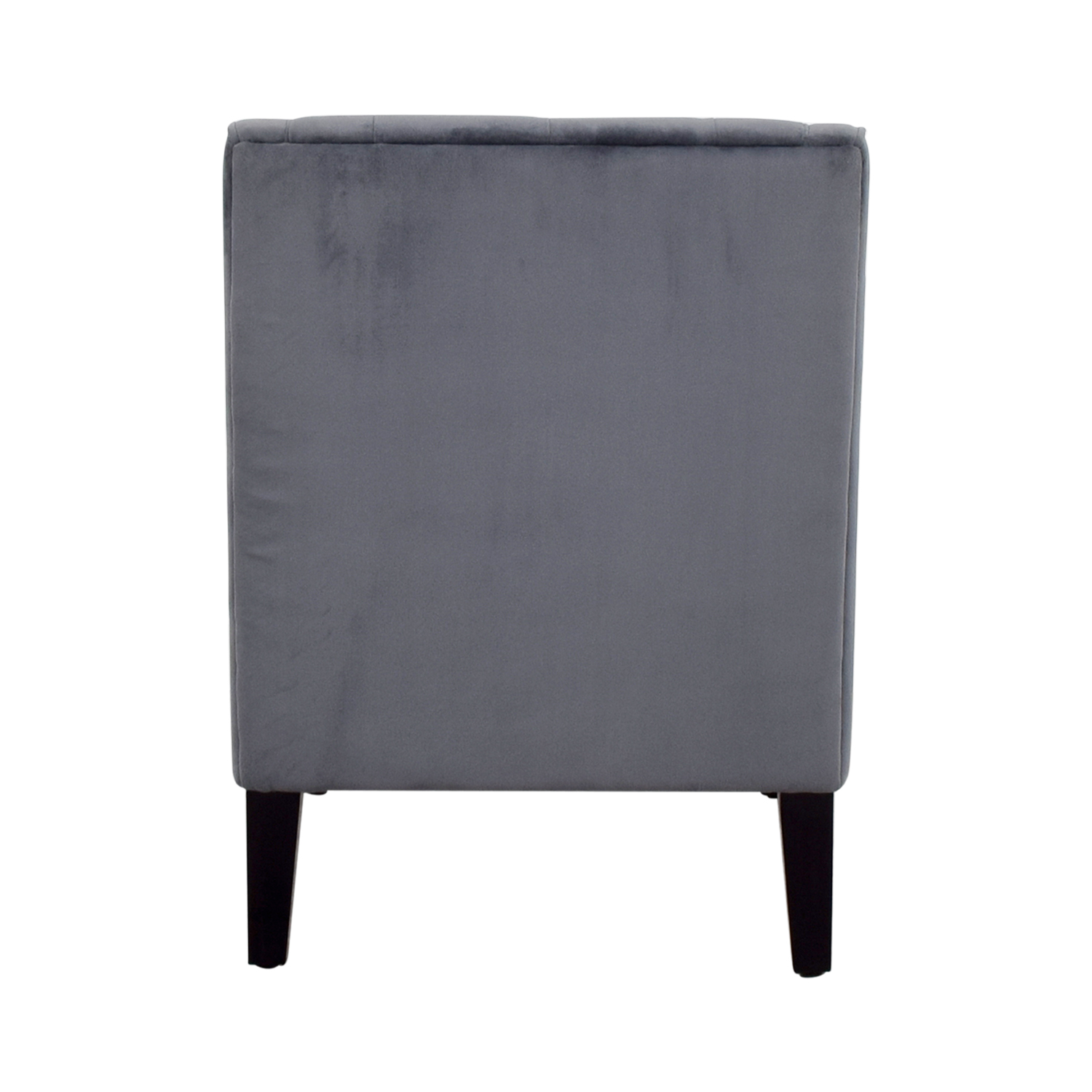 ... Buy Abbyson Furniture Grey Microsuede Tufted Arm Chair Abbyson Furniture  Accent Chairs ...