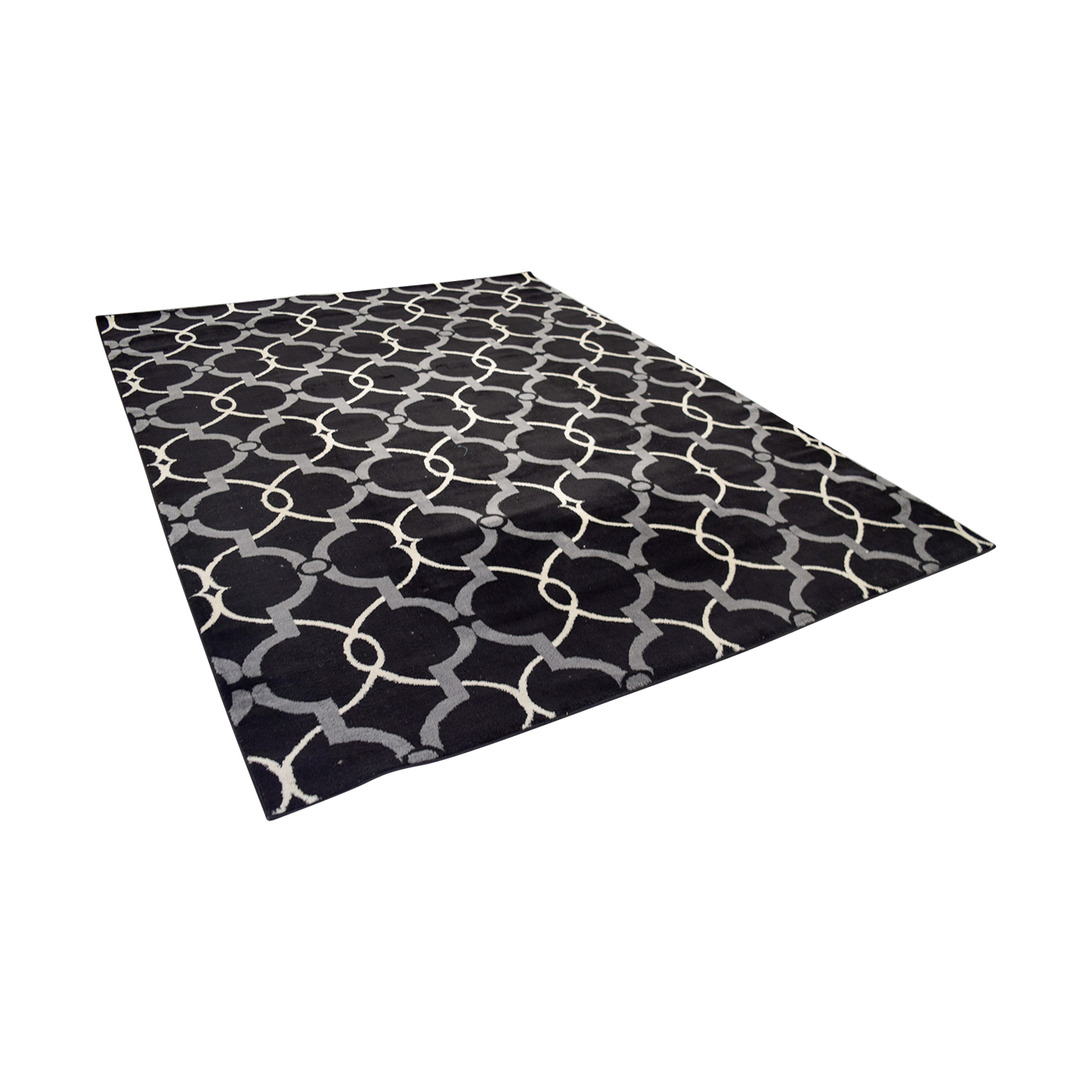 Safavieh Safavieh Black Grey and White Modern Rug second hand