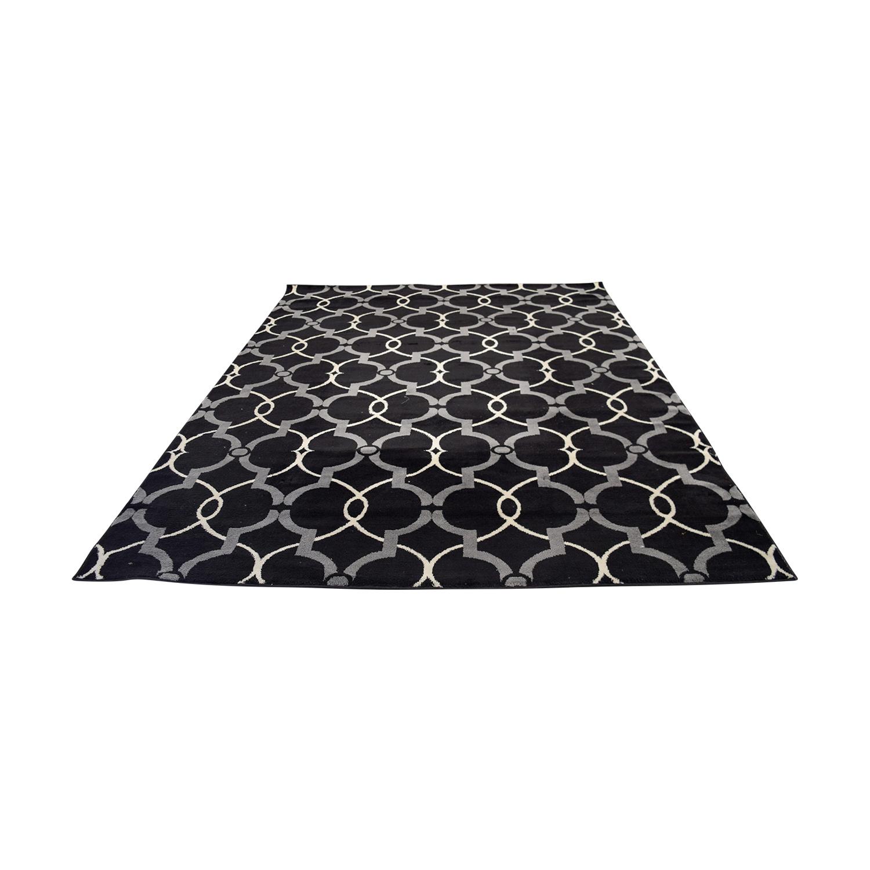 Safavieh Safavieh Black Grey and White Modern Rug Rugs