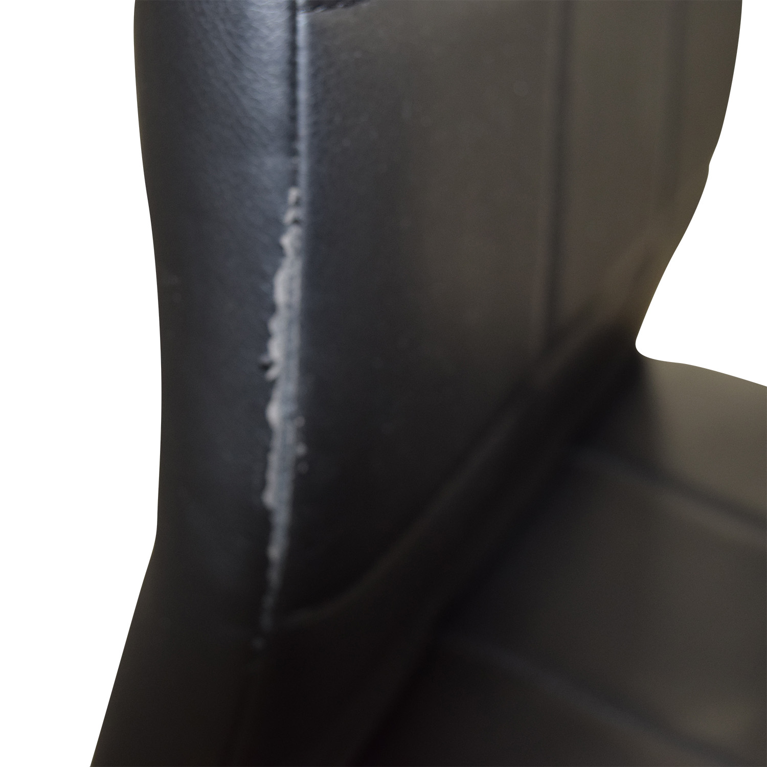 Black Leather Dining Chairs Black / Chrome