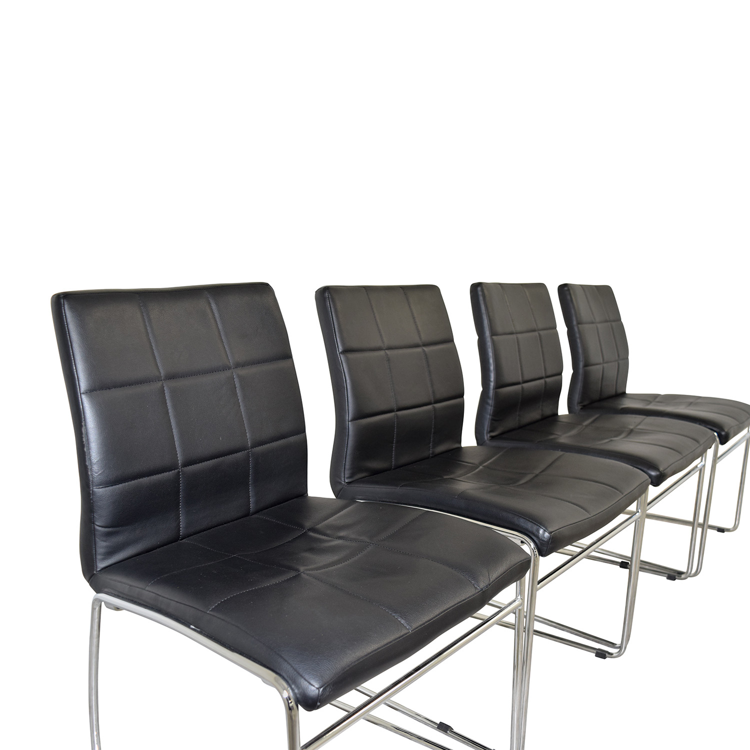 Black Leather Dining Chairs nj