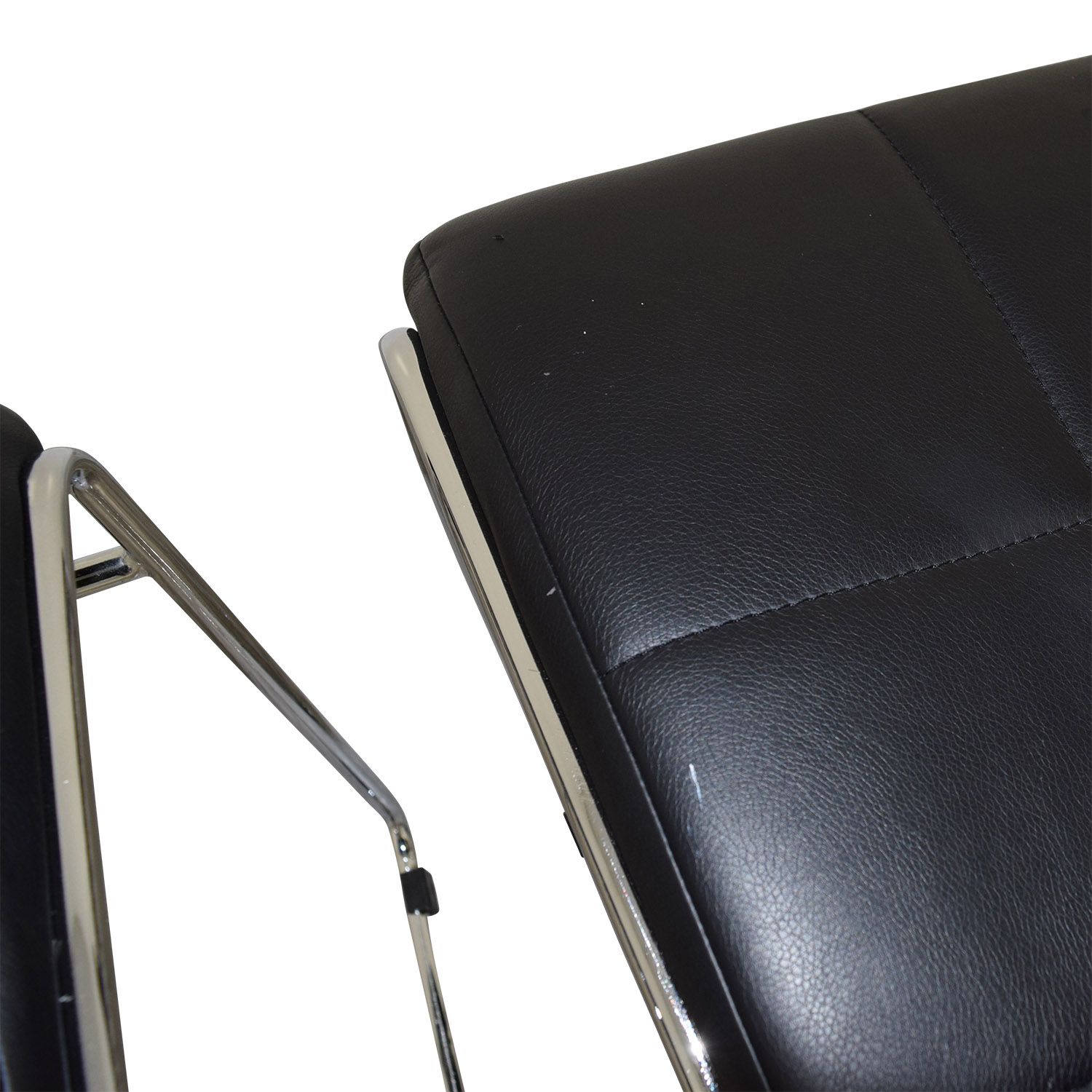 Black Leather Dining Chairs for sale