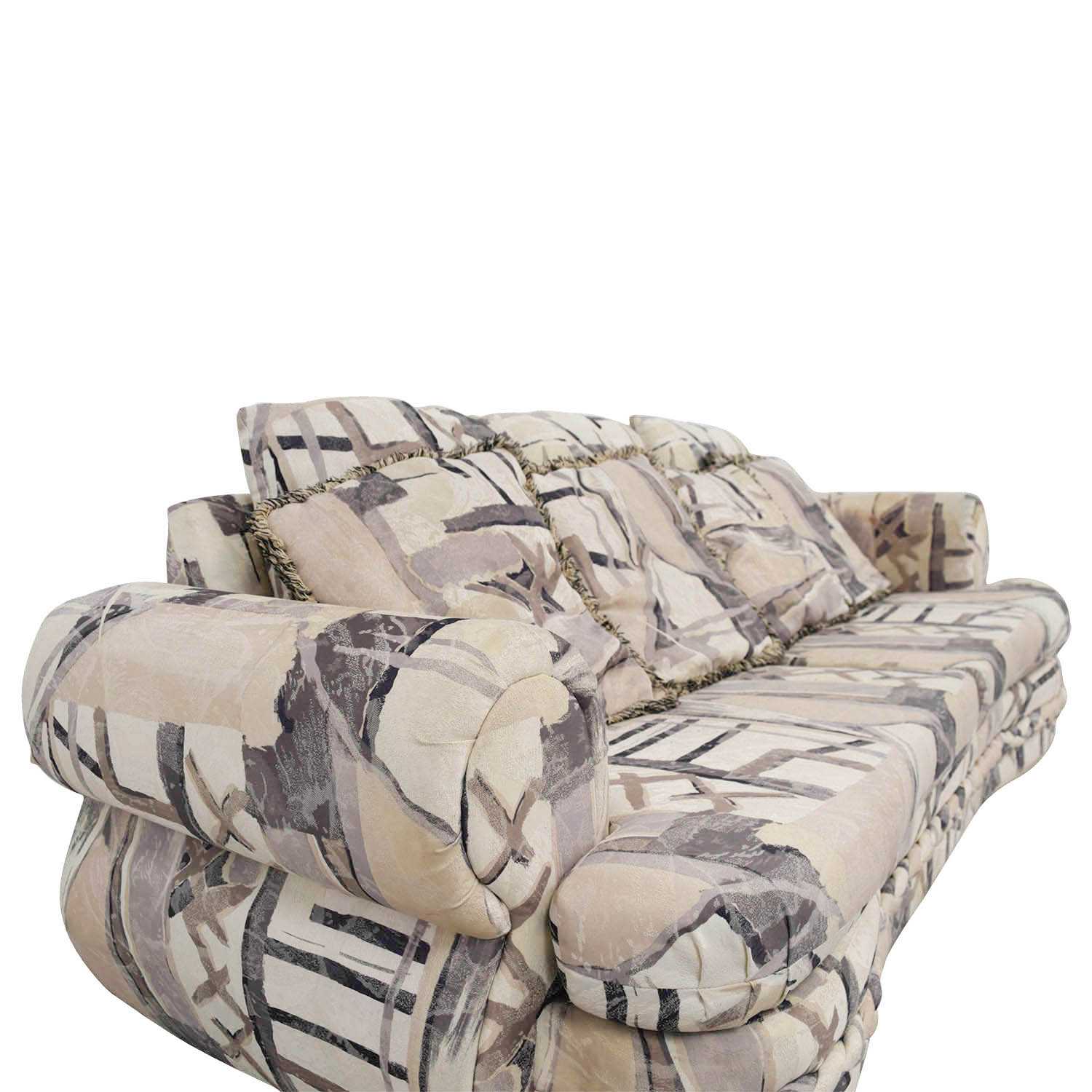 White Multi-Colored Two-Cushion Couch price