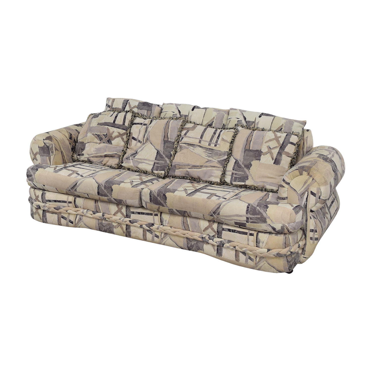 buy White Multi-Colored Two-Cushion Couch online