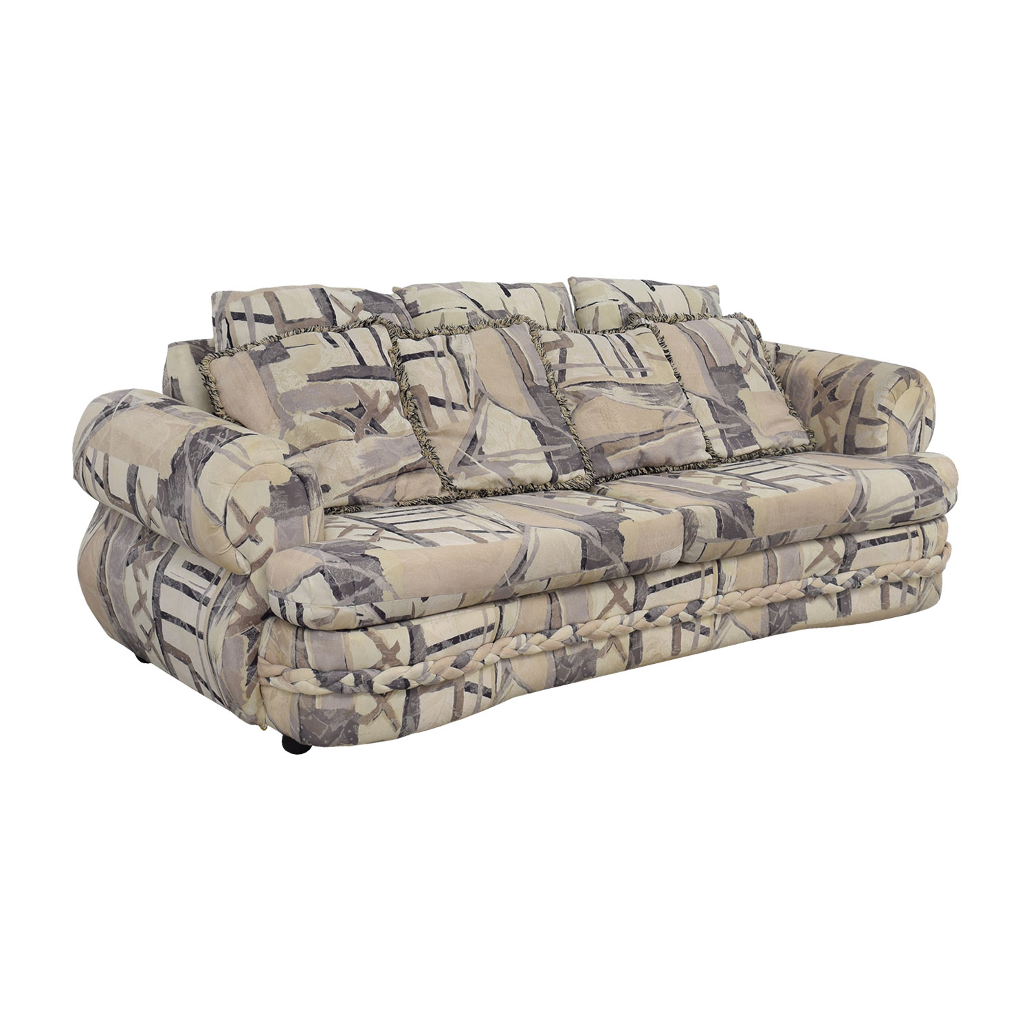 buy White Multi-Colored Two-Cushion Couch Sofas