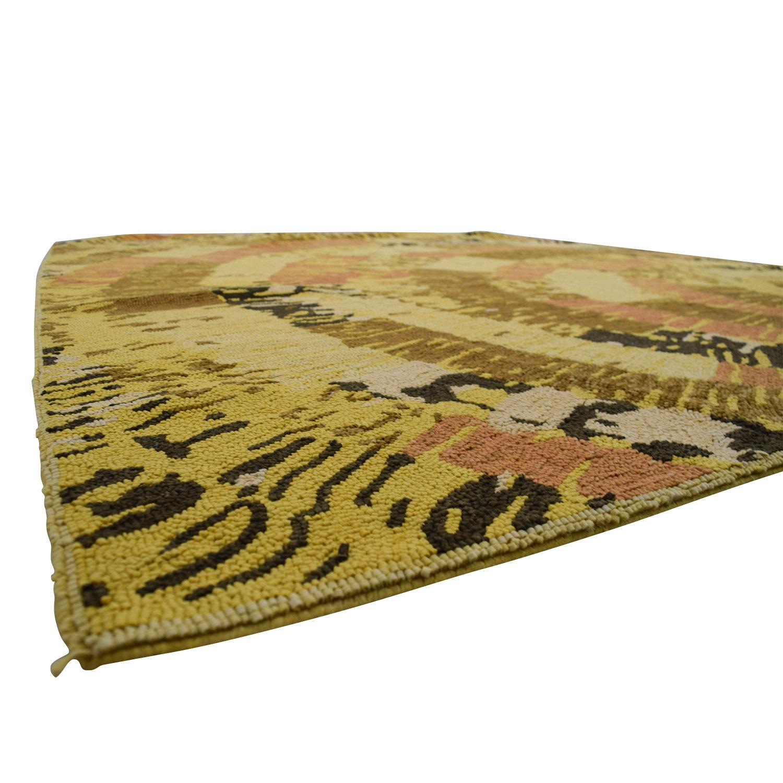 buy Obeetee Obeetee Hand Hooked Sunburst Orange Brown Rug online