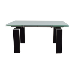 Bontempi Bontempi Glass Top with Black and Silver Base Table price