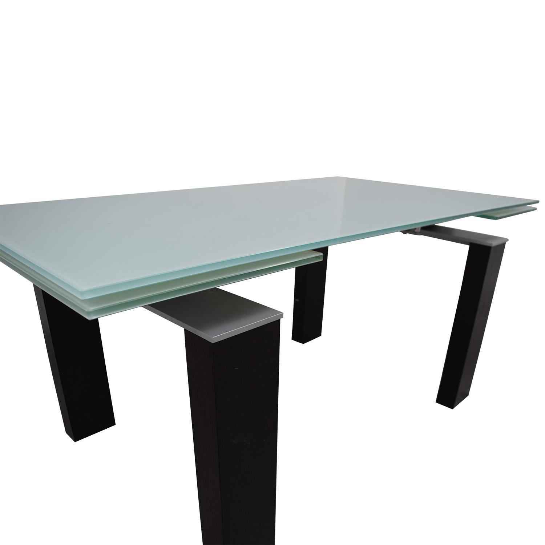 shop Bontempi Bontempi Glass Top Table online
