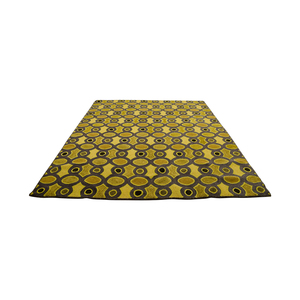 Obeetee Hand Hooked Yellow Grey Rug sale