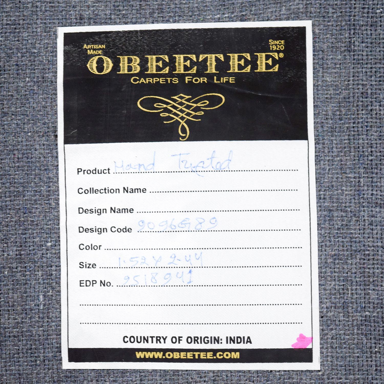 buy Obeetee Obeetee Hand Hooked Yellow Grey Rug online
