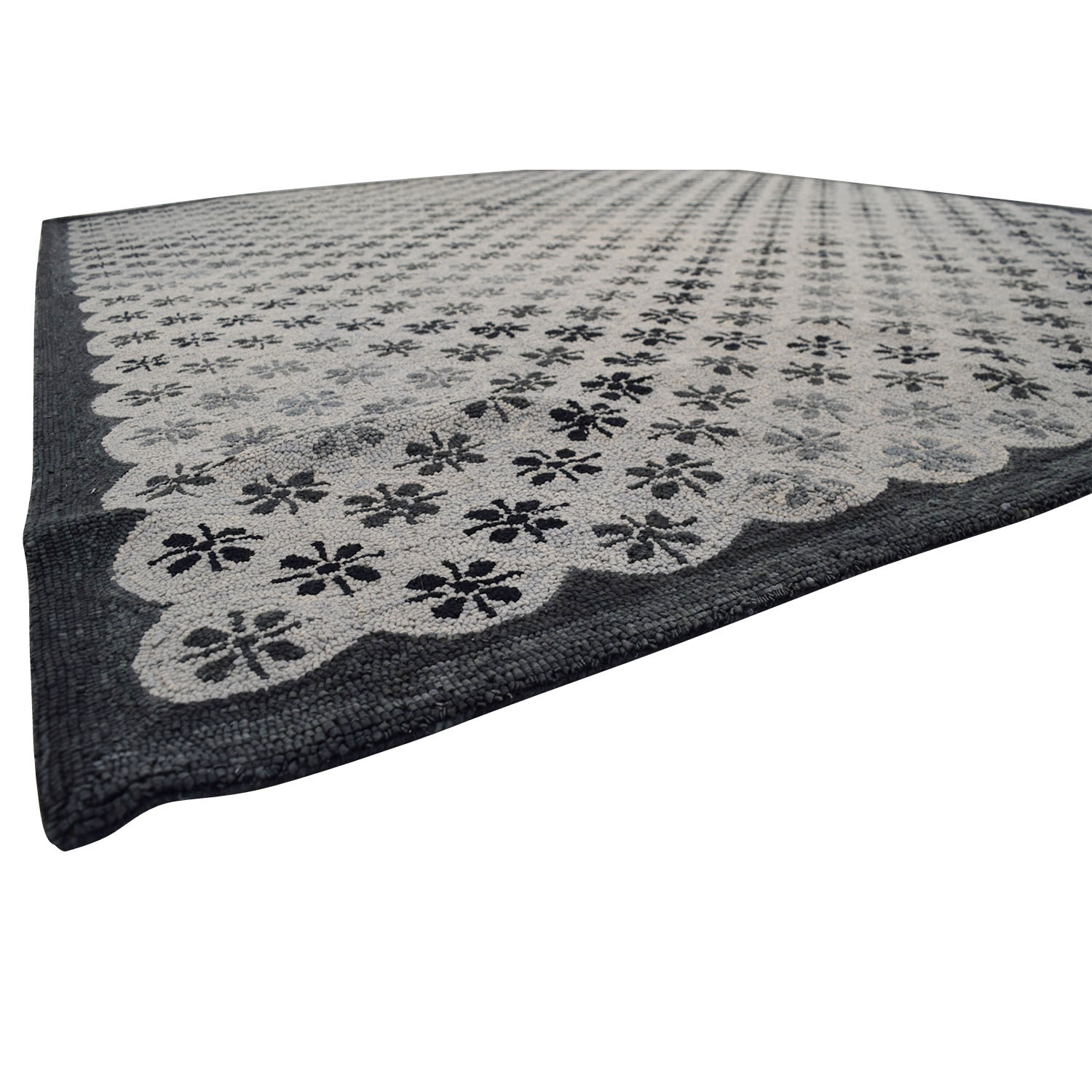 Obeetee Obeetee Gray and Black Asterisk Rug dimensions
