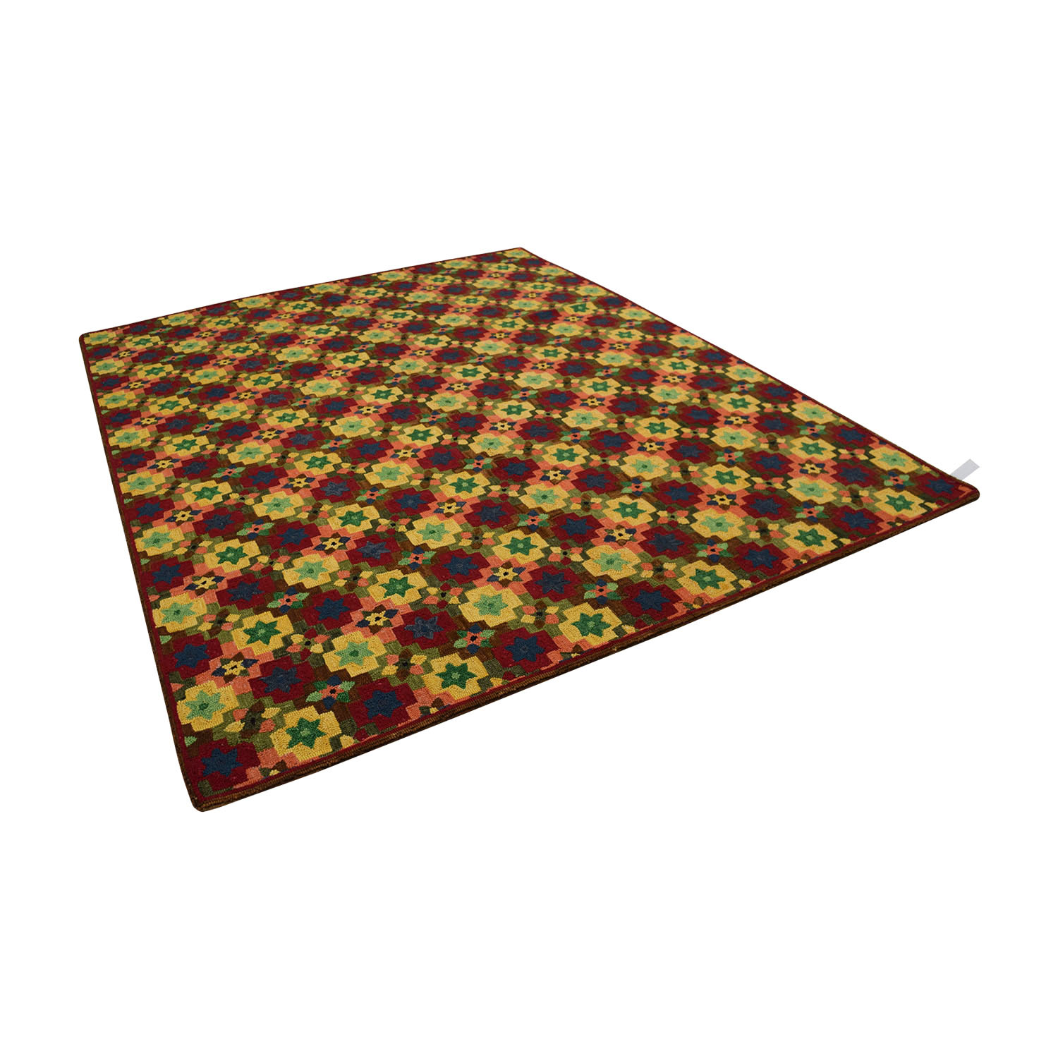 Obeetee Obeetee Hand Hooked Multi Colored Floral Rug