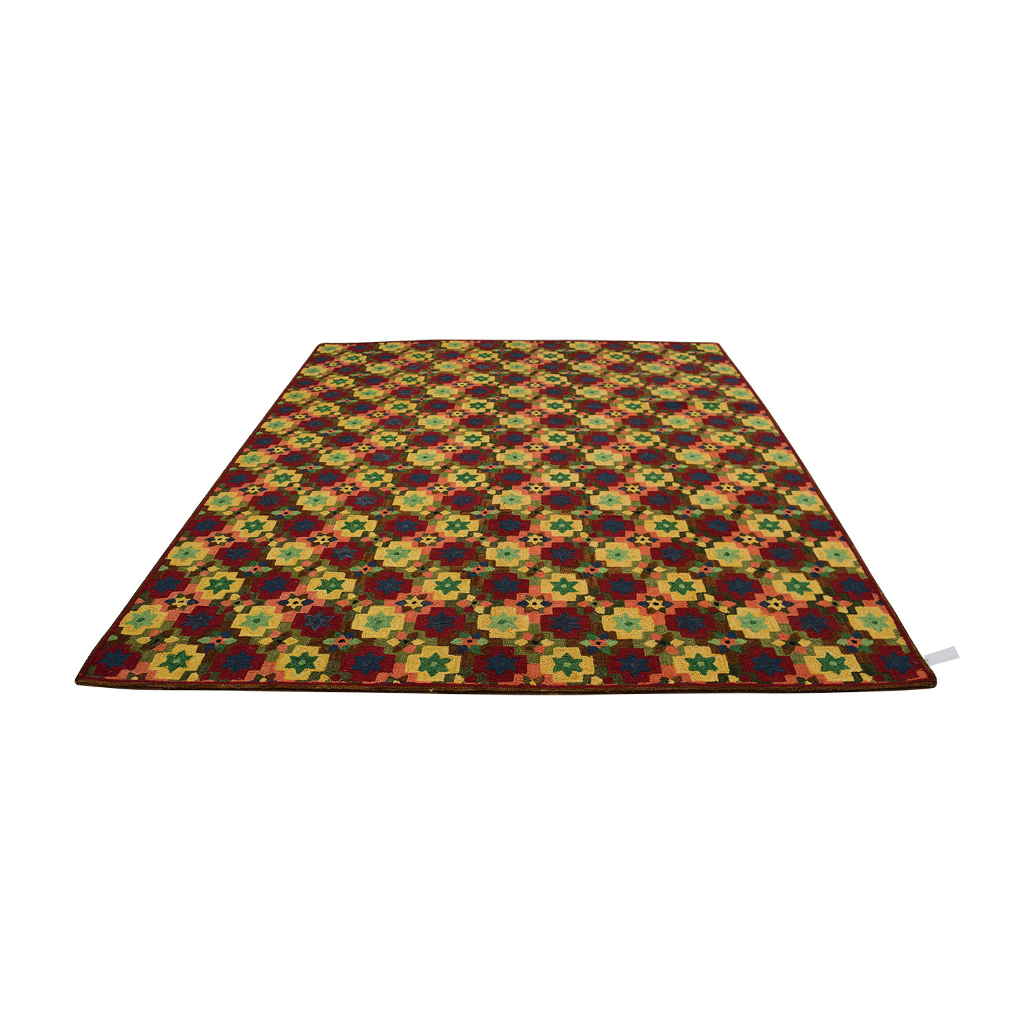 Obeetee Hand Hooked Multi Colored Floral Rug Obeetee