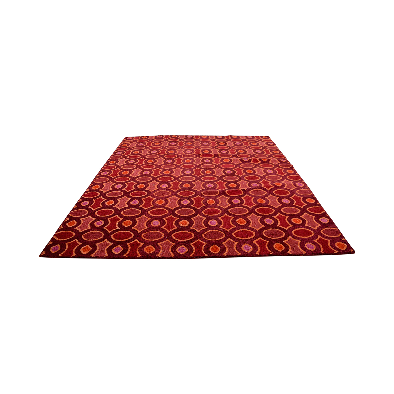 Obeetee Obeetee Hand Hooked Red Pink Orange Rug coupon