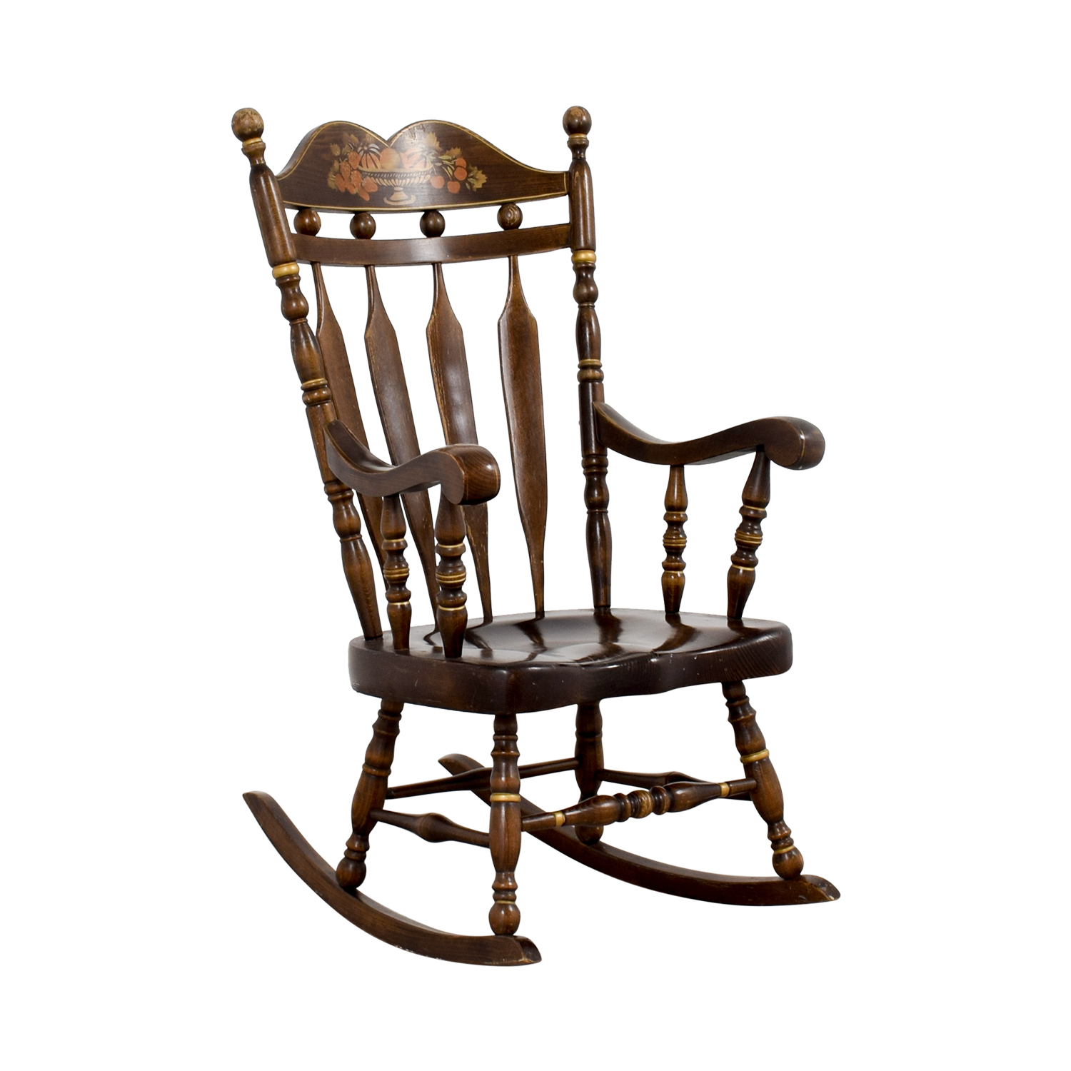 chair rocking old on white picture wood wooden photo stock background
