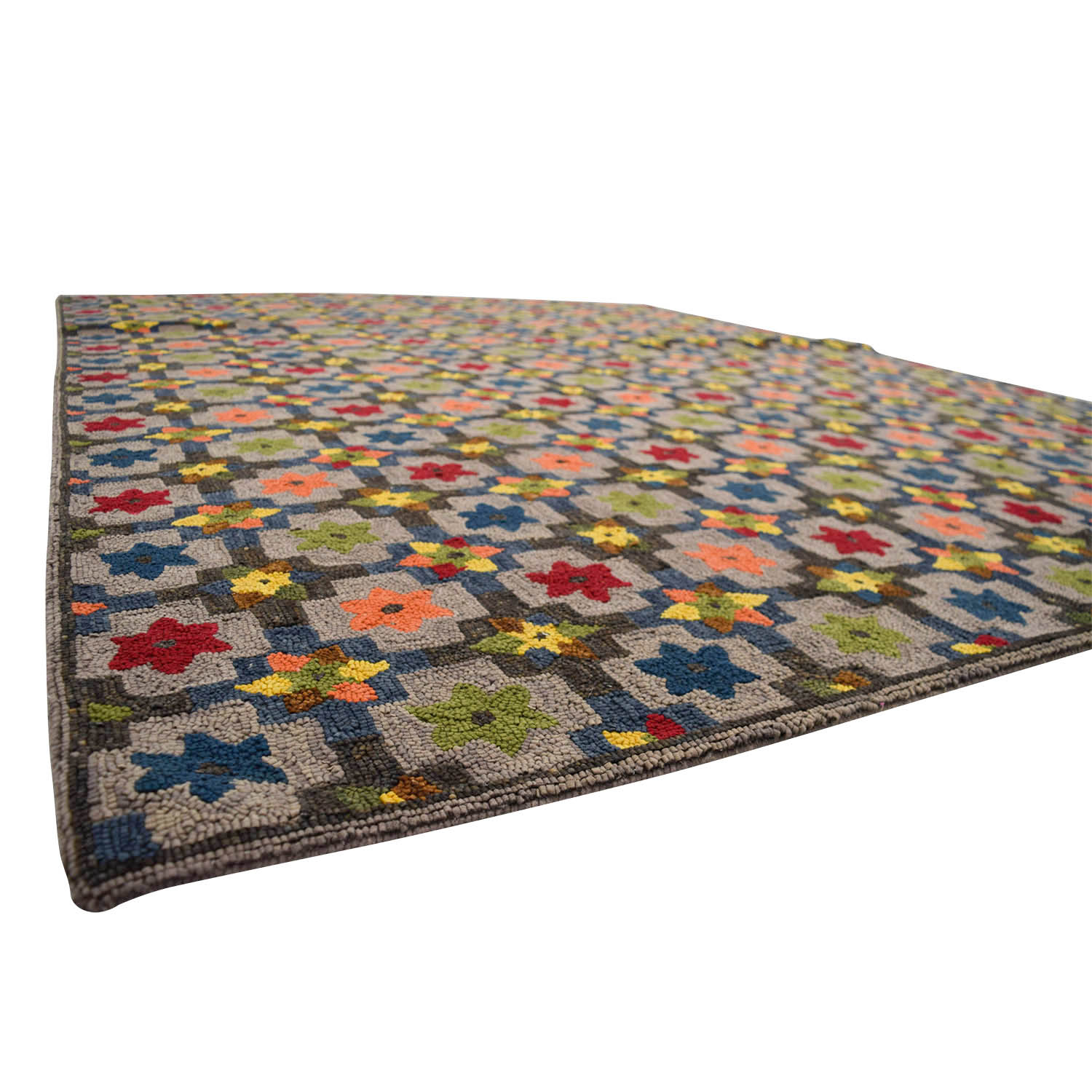 Obeetee Obeetee Hand Hooked Multi Colored Floral Rug discount