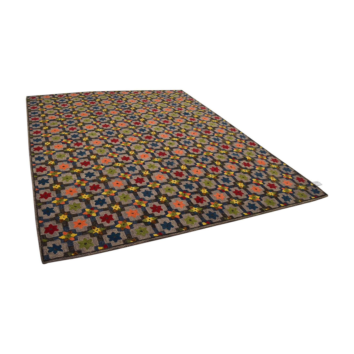 Obeetee Obeetee Hand Hooked Multi Colored Floral Rug price