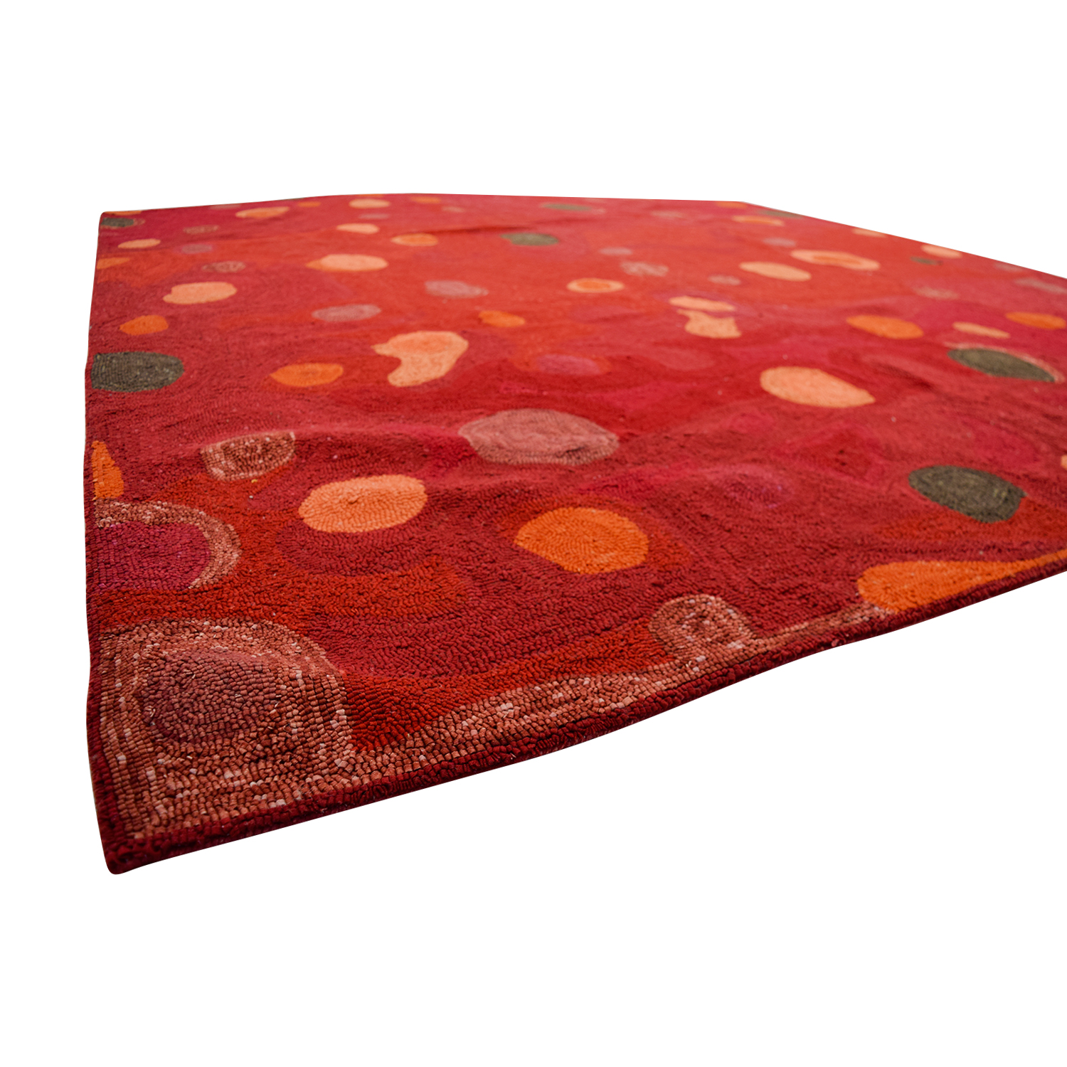 Obeetee Obeetee Red with Colored Spots Rug used