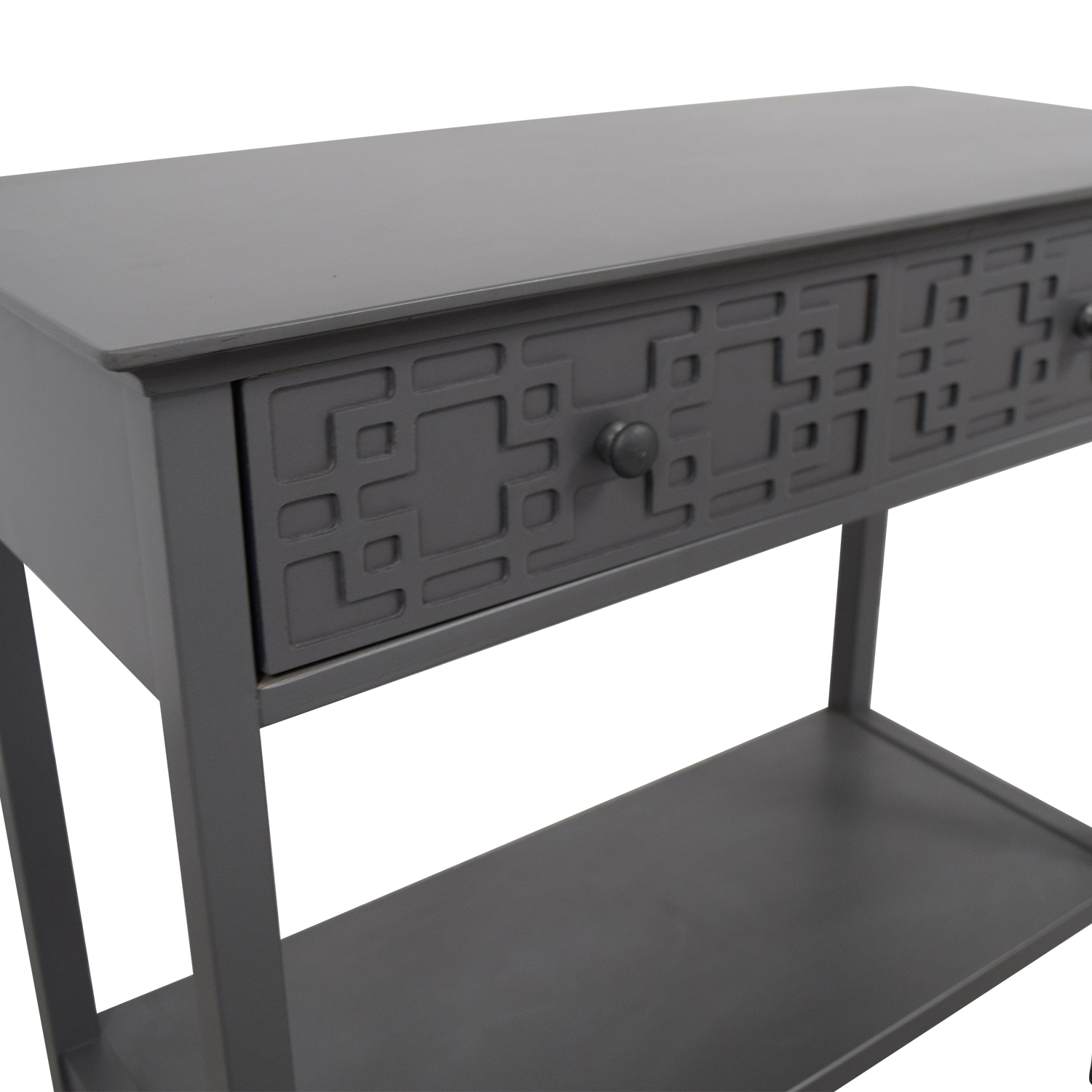 shop Grey Console with Drawer Accent Tables