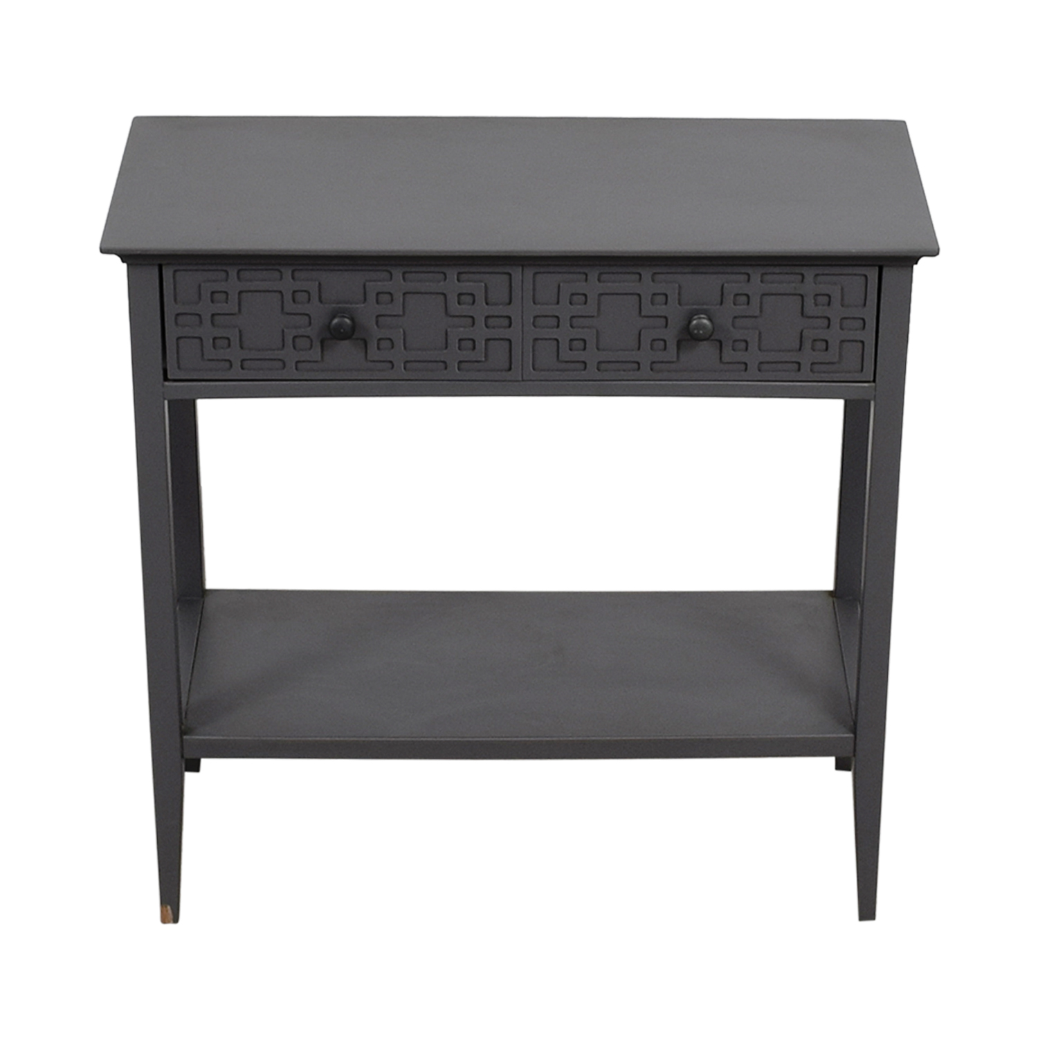 Grey Console with Drawer Tables