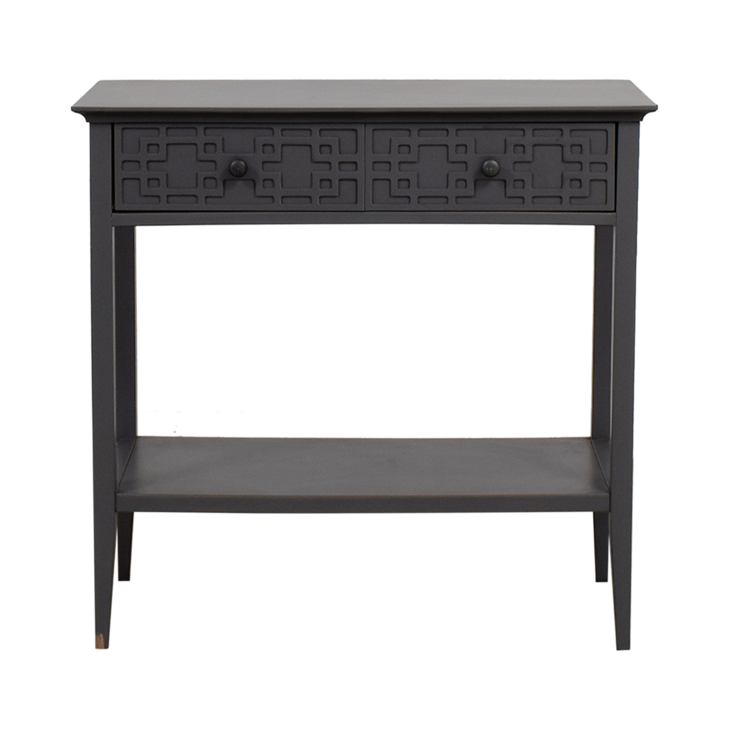 Grey Console with Drawer Accent Tables