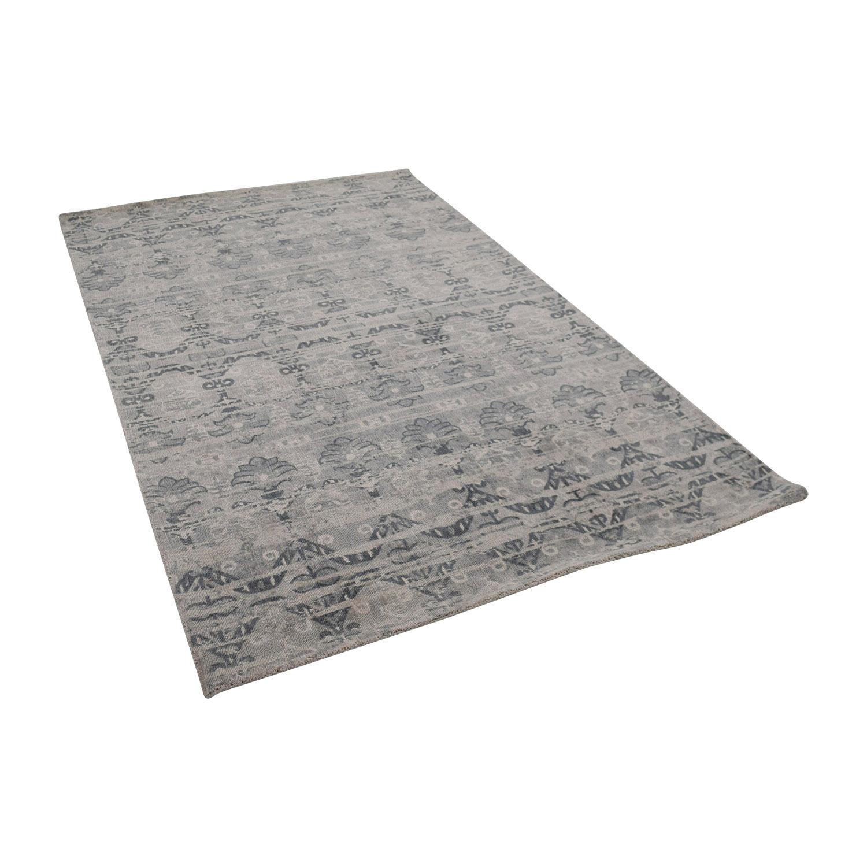 Obeetee Obeetee Gray Pattern Rug discount