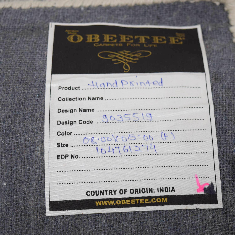 shop Obeetee Gray Pattern Rug Obeetee Rugs