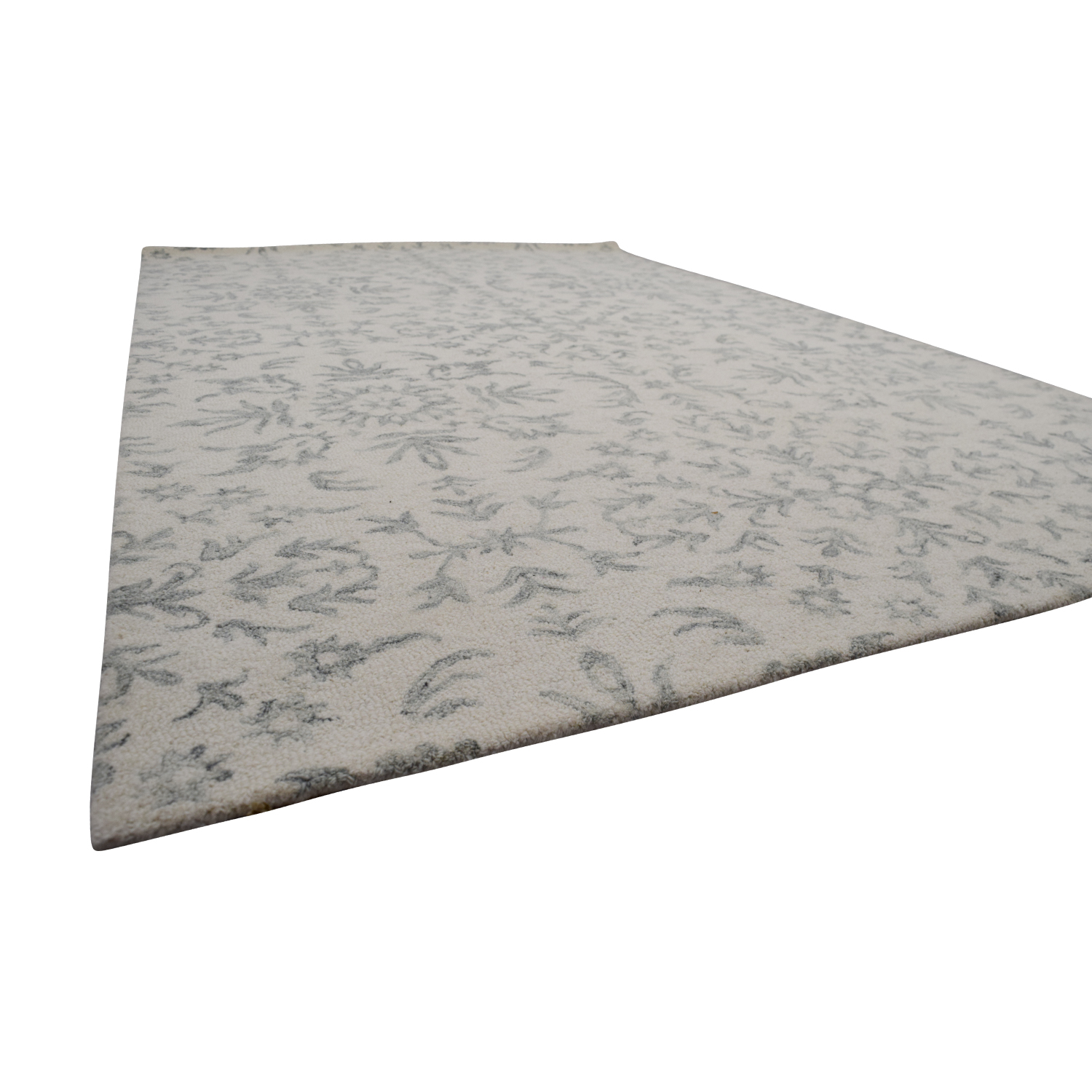 buy Obeetee White and Light Gray Rug Obeetee Rugs