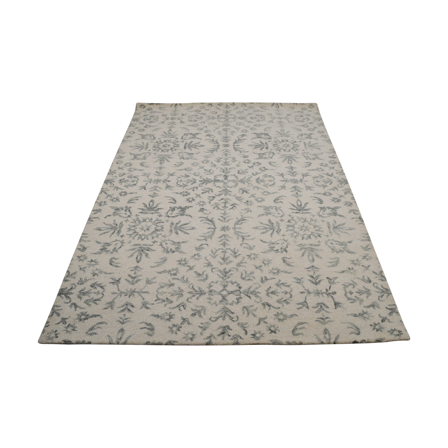 Obeetee Obeetee White and Light Gray Rug discount