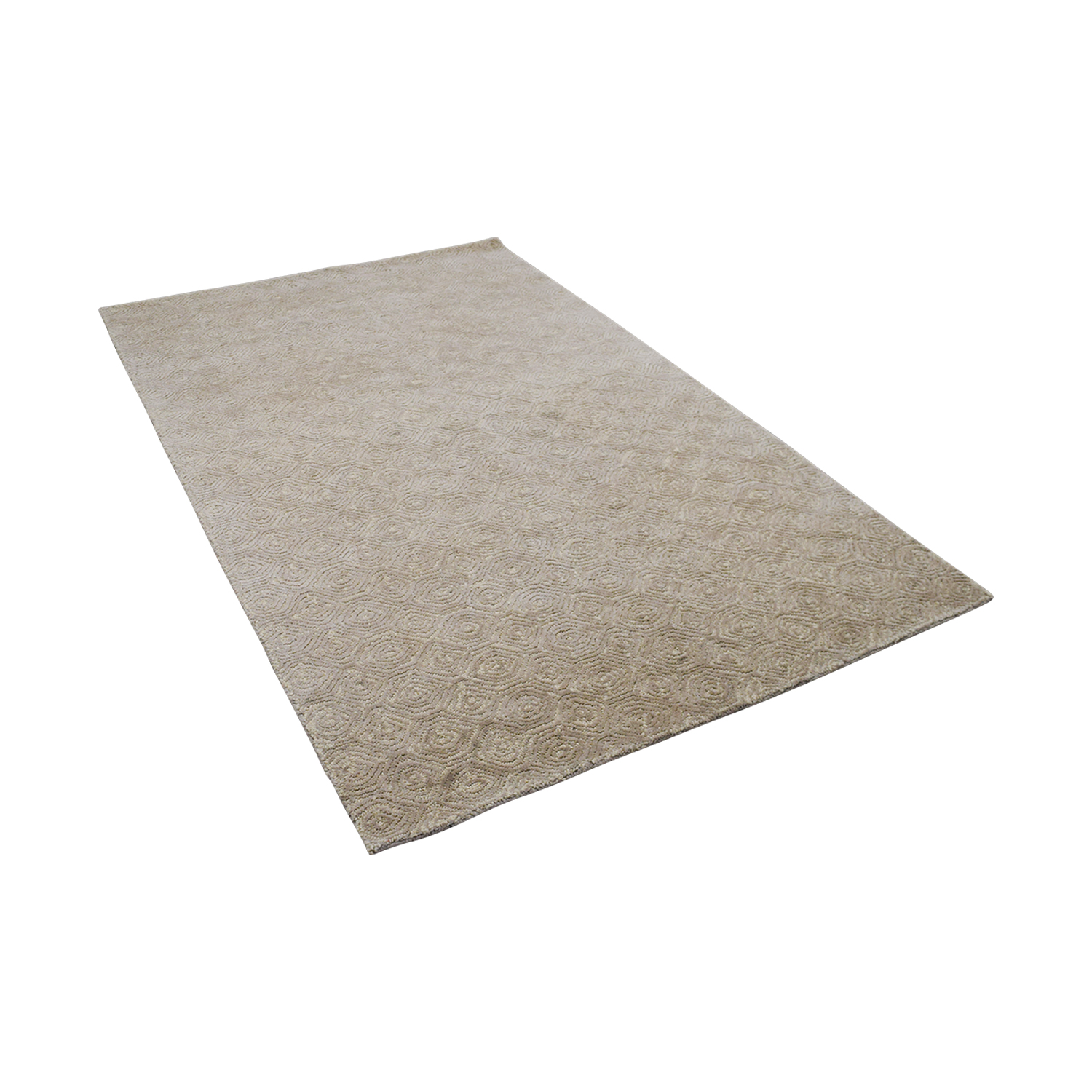 Obeetee Obeetee Off White with Spiral Design Rug Rugs