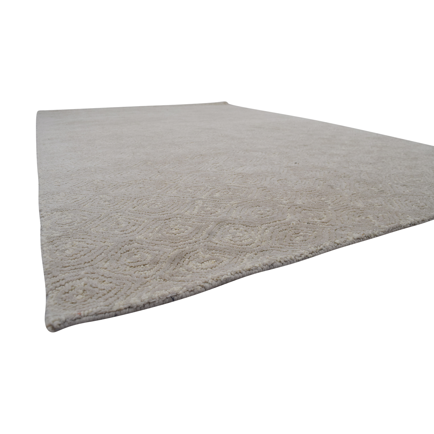 Obeetee Off White with Spiral Design Rug Obeetee