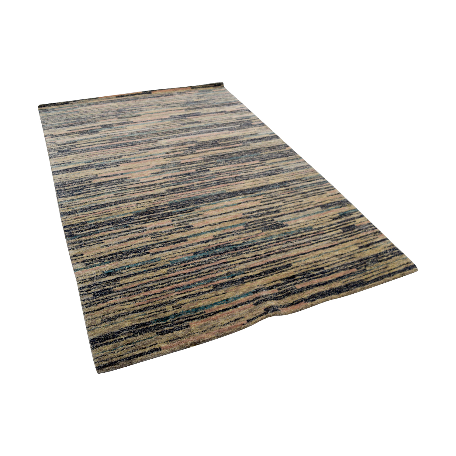 Obeetee Obeetee Multicolor Strips Rug for sale
