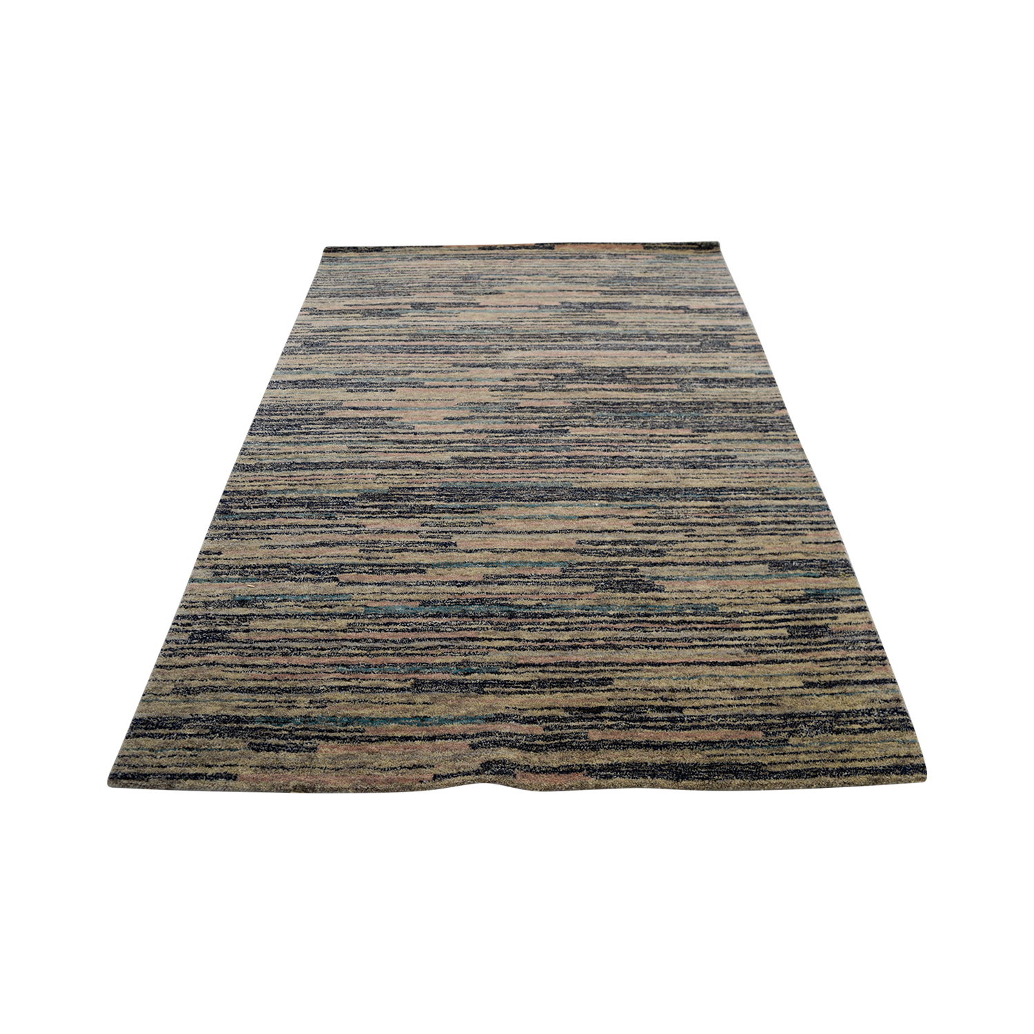 Obeetee Obeetee Multicolor Strips Rug used