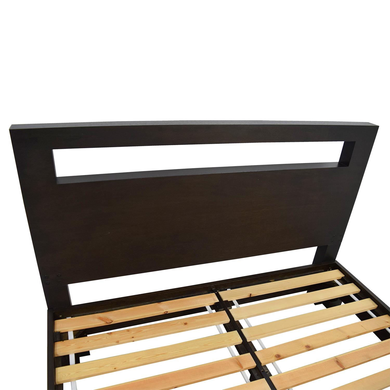 buy West Elm Wood Cutout Platform Queen Bedframe West Elm
