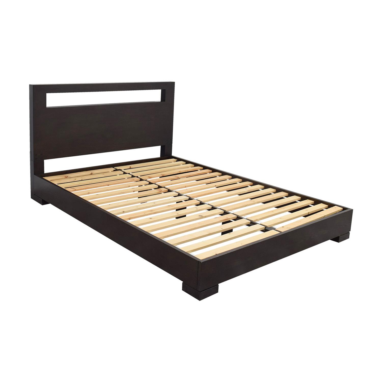 West Elm Wood Cutout Platform Queen Bedframe sale
