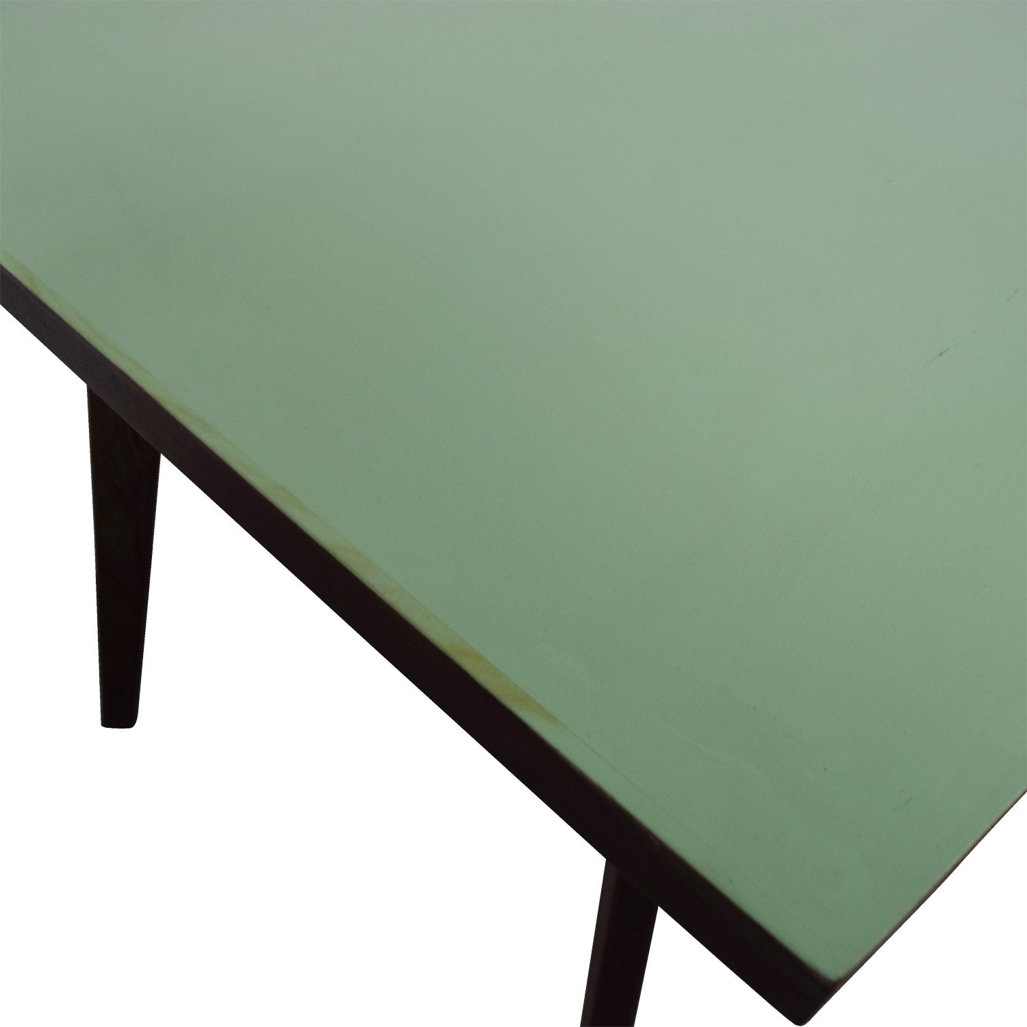 Wood and Teal Dining Table Tables