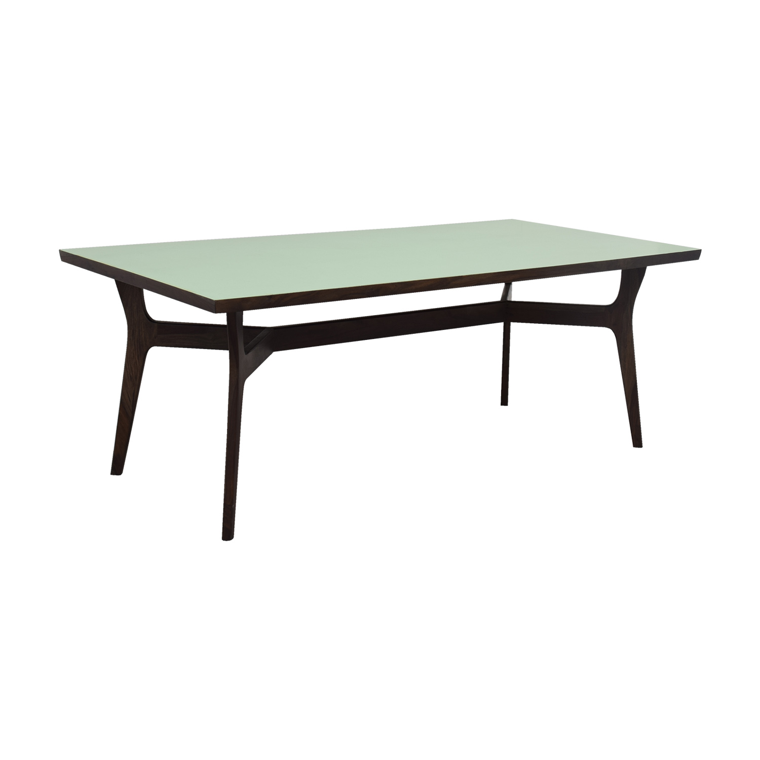 Wood and Teal Dining Table nj