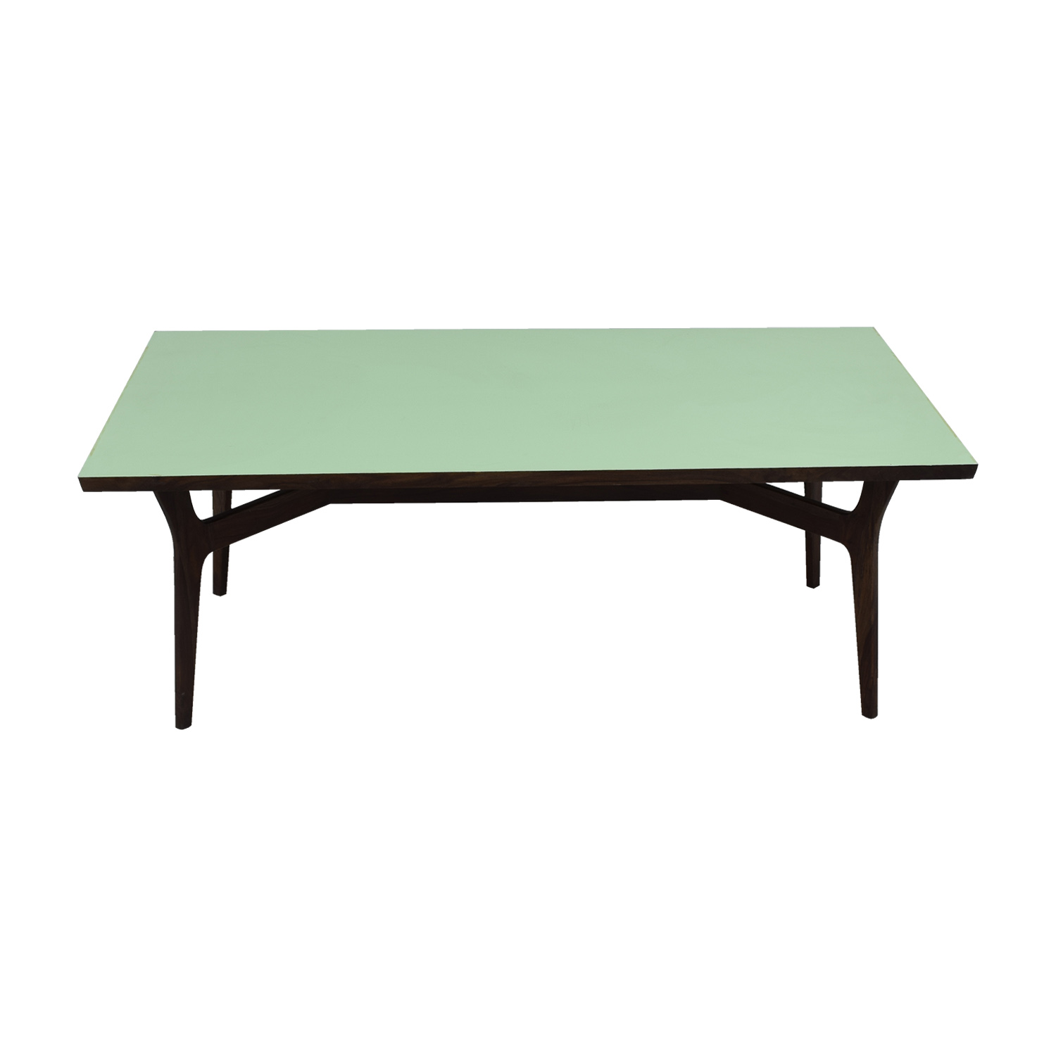 Wood and Teal Dining Table / Tables