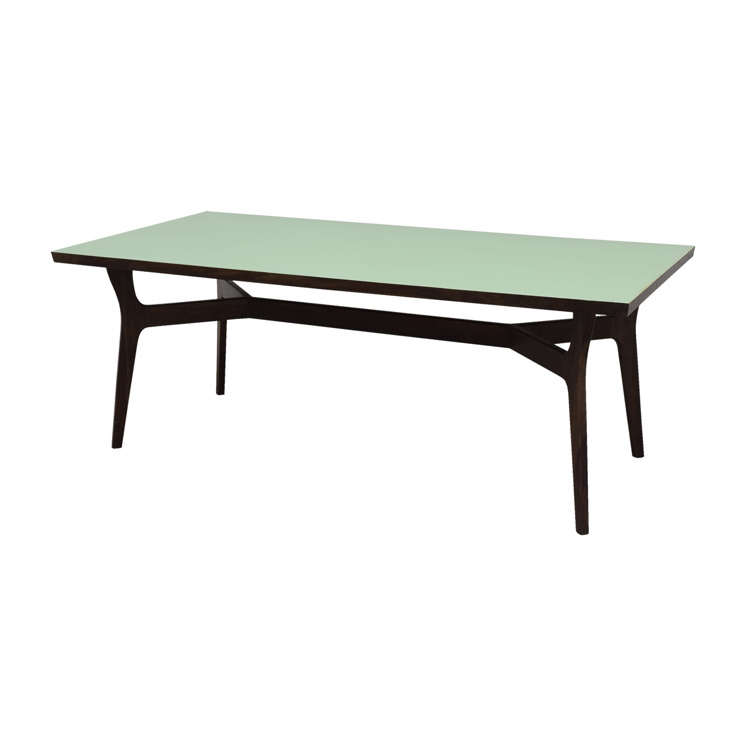 shop Wood and Teal Dining Table Dinner Tables