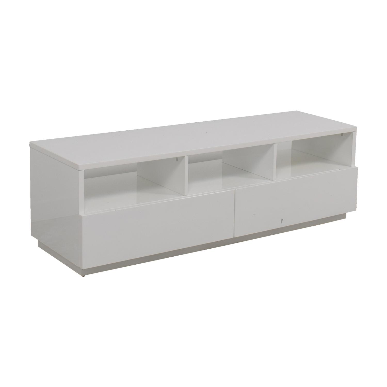 shop Modern White TV Stand Media Units