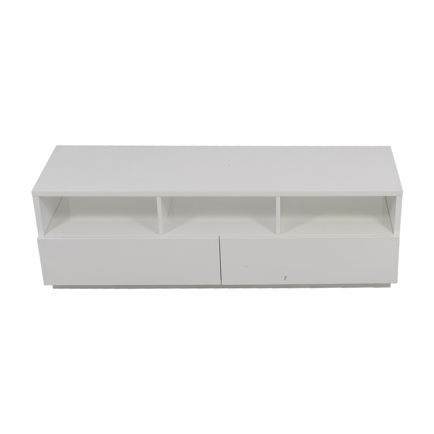 Modern White TV Stand discount