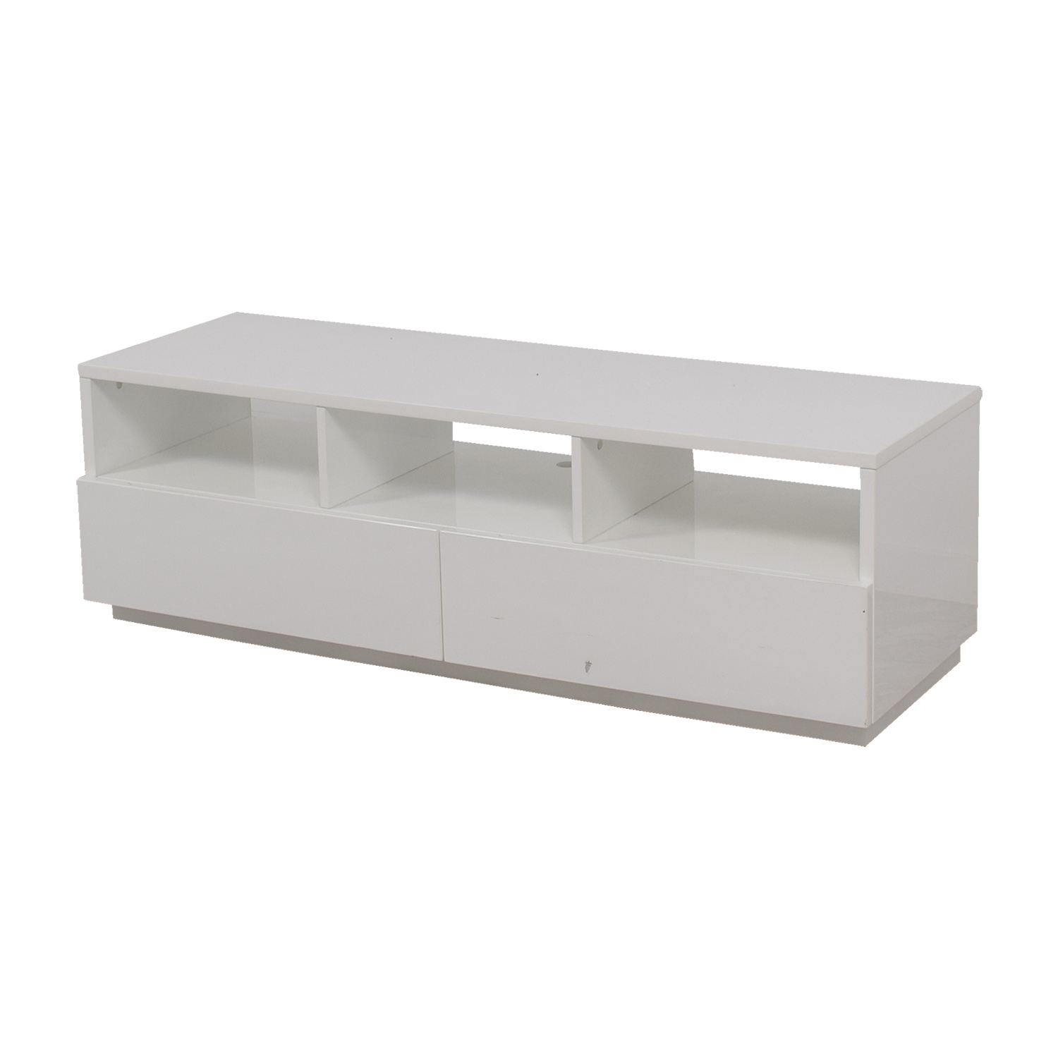 Modern White TV Stand coupon